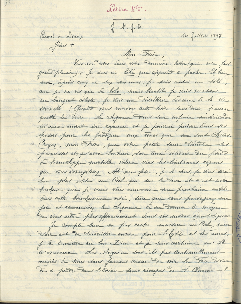 LT 254 - to Fr  Roulland - July 14, 1897