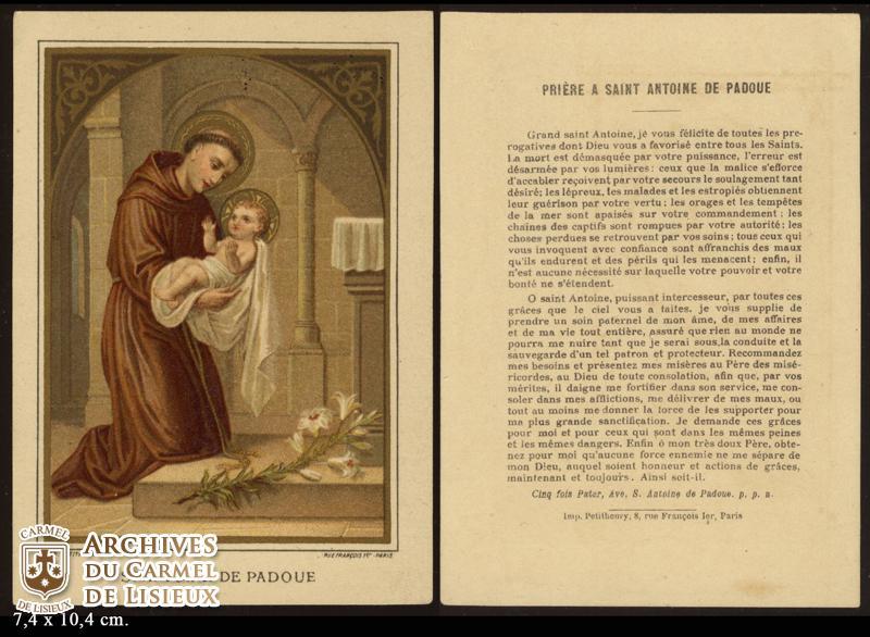 Favori ANTOINE DE PADOUE. PRIÈRE A SAINT ANTOINE DE PADOUE. Grand saint  EW12