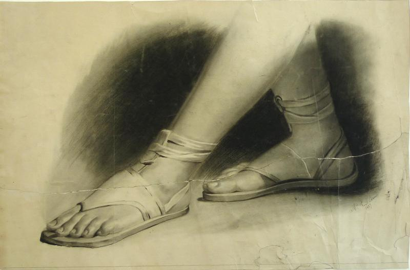 Charcoal from the young Celine Fournet - 1857