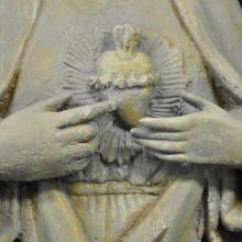 Virgin of the garden - detail