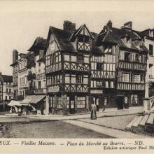 Lisieux post card - the Butter Market Place